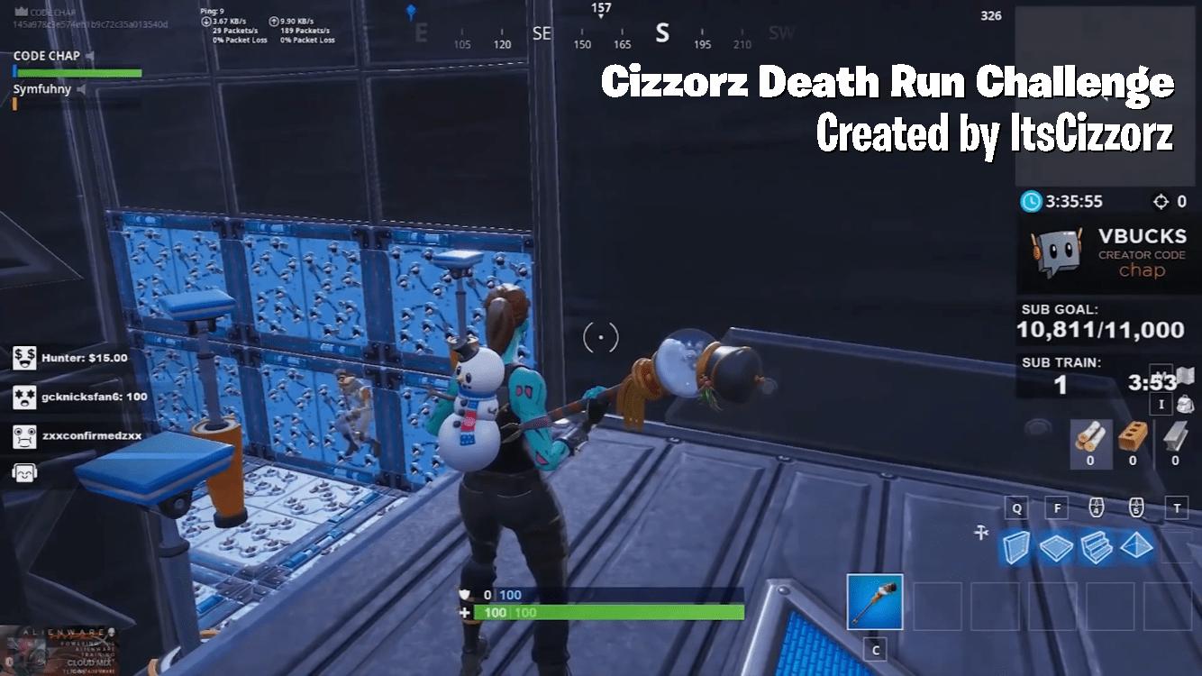 Cizzorz Death Run Challenge Itscizzorz Fortnite Creative Map Code