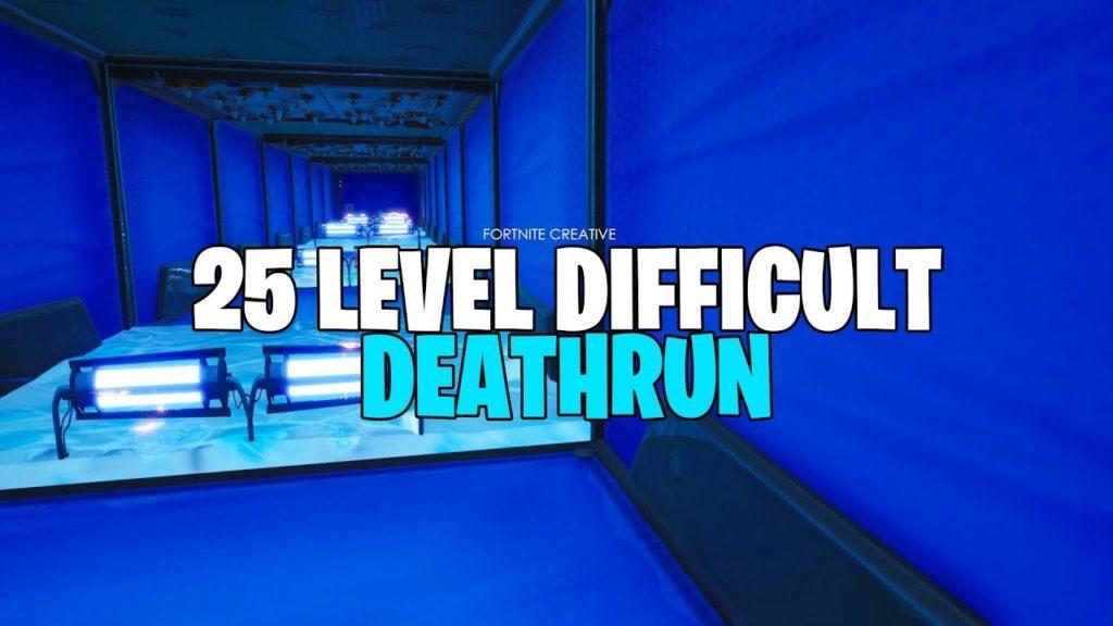 25 Level Difficult Deathrun Macaronishiiiit Fortnite Creative