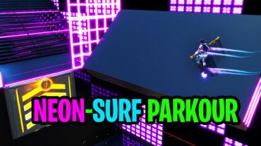 Neon-Surf Parkour Course