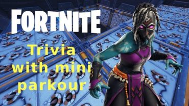 Fortnite Trivia Mini Parkour