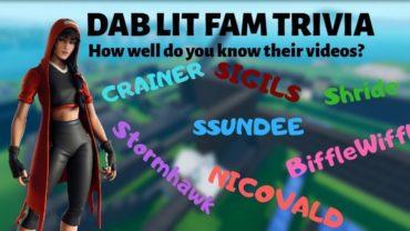 Dab Lit Fam Trivia Run