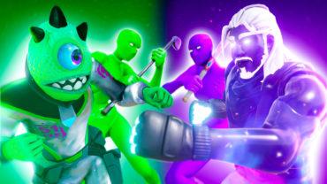 Green VS Purple GO GOATED