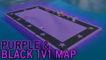 Clean Purple and Black 1v1 Map