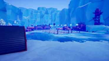 Icy Runway Gun Game