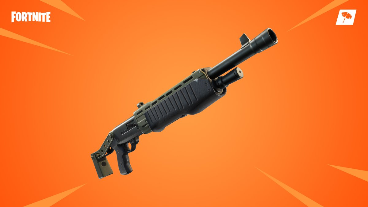 gold pump shotgun in Fortnite