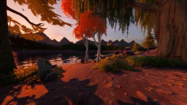Campfire scenery