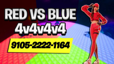 🔴Red VS Blue🔵 4V4V4V4 (CUSTOM TEAMS)