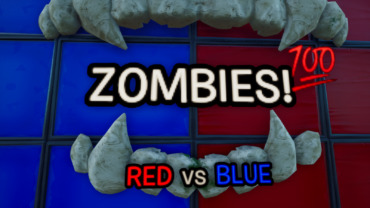 ZOMBIES! Red VS Blue 💯