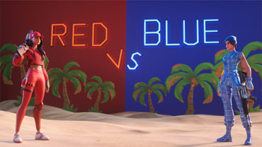 🏝️😡 Tropical Red vs Blue🥶🏝 (💯 pro)