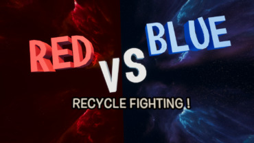 🔴RED VS BLUE🔵: RECYCLE FIGHTING !