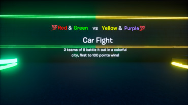 💯Red&Green vs Yellow&Purple Car Fight💯