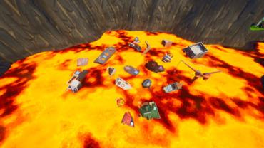 Volcano gun game