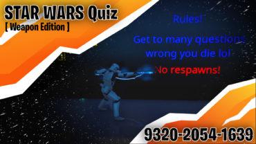 STAR WARS quiz [Weapon Edition]