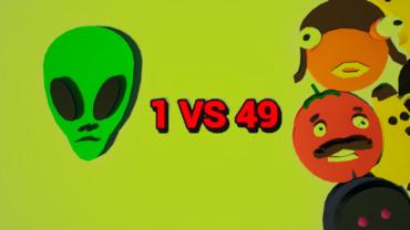 1 VS 49 - ALIEN VS HUNTERS!